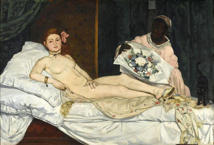 "Edouard Manet, ""Olympia"", 1863, Paris, musée d'Orsay  (Photo © Musée d'Orsay, Dist. RMN-Grand Palais / Patrice Schmidt)"