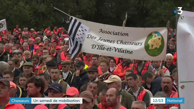 Manifestation : les chasseurs manifestent face à l'interdiction des chasses traditionnelles