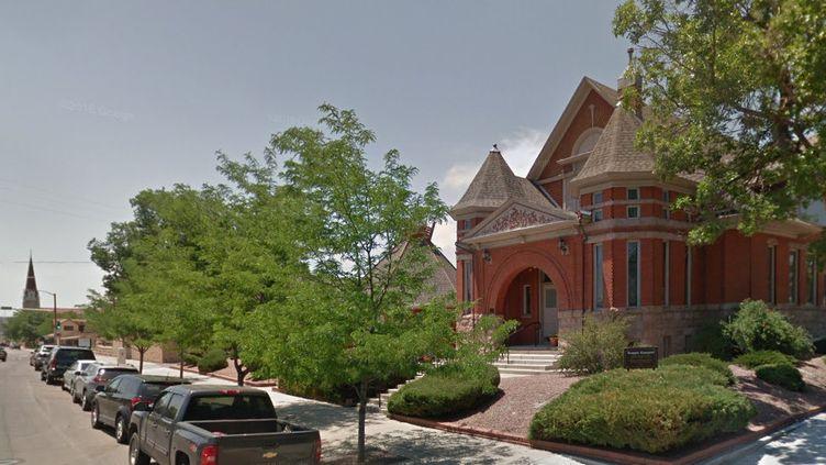 La synagogueTempleEmanuel,dans la ville américaine dePueblo (Colorado), était visée par ce projet d'attentat. (GOOGLE STREET VIEW / FRANCEINFO)