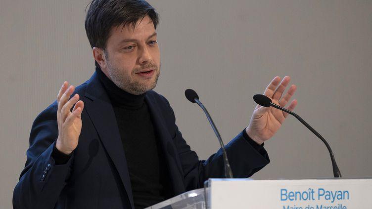 Benoit Payan, maire PS de Marseille, le 7 janvier 2021. (CHRISTOPHE SIMON / AFP)