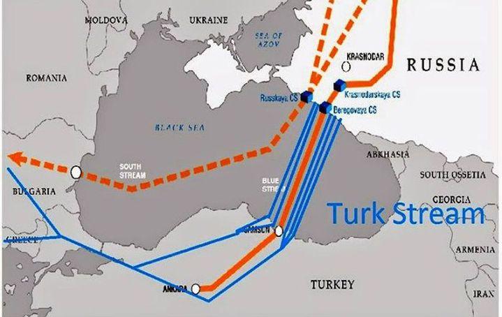 Turk stream projet de gazoduc reliant la Russie à la Turquie puis l'Europe