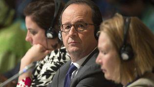 François Hollande au somment de la COP22àMarrakesh (Maroc), le 15 novembre 2016 (FADEL SENNA / AFP)