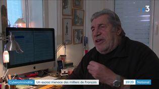 Jean-Pierre Castaldi à son domicile, en décembre 2019. (FRANCE 3)