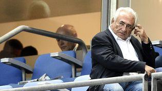 Dominique Strauss-Kahn, l'ancien directeur du FMI, le 30 mai 2015, au Stade de France, à Saint-Denis (Seine-Saint-Denis). (FRANCK FIFE / AFP)