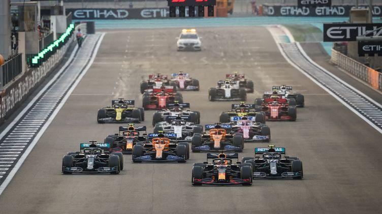 Les pilotes au départ du Grand Prix d'Abu Dhabi, le 13 décembre 2020.  (ANTONIN VINCENT / ANTONIN VINCENT)