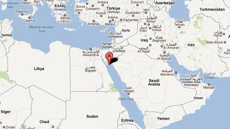 La station de Charm el Cheikh se situe entre le golfe de Suez et la mer Rouge. (GOOGLE MAPS / CAPTURE FTVi)