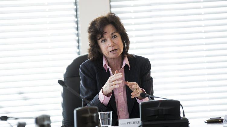 Sylvie Pierre Brossoletteau Conseil supérieur de l'audiovisuel à Paris en mars 2016. (MAXPPP)