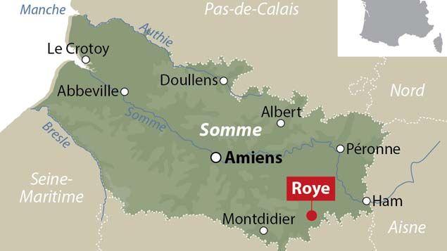 (La fusillade s'est déroulée à Roye dans la Somme ©)