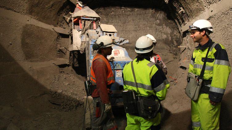 (La construction des galeries souterraines du futur site de stockage du laboratoire de déchets nucléaires de Bure (Meuse) © MaxPPP)