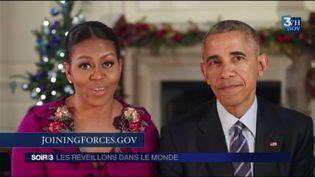 Barack Obama et sa femme Michelle ont célébré la nouvelle année. (FRANCE 3)