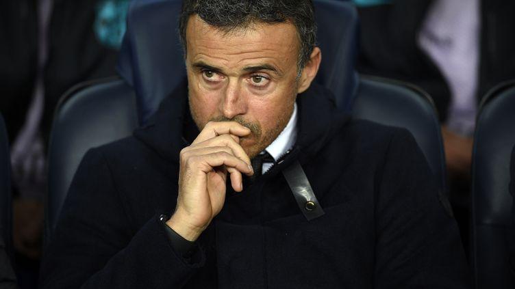 L'entraîneur du FC Barcelone, Luis Enrique (LLUIS GENE / AFP)