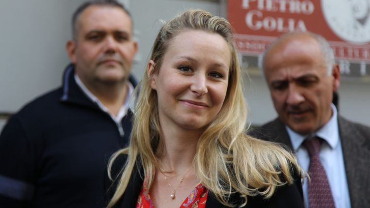 Marion Maréchal, le 14 mai 2019 à Milan (Italie). (MAXPPP)