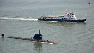 Un sous-marin de l'armée indienne de type Scorpène, construit par leconstructeur naval français DCNS. (INDIAN NAVY / AFP)