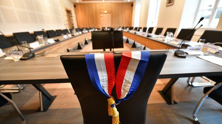 La salle du conseil municipal de Tulle (Corrèze), le 12 mars 2020. (MAXPPP)