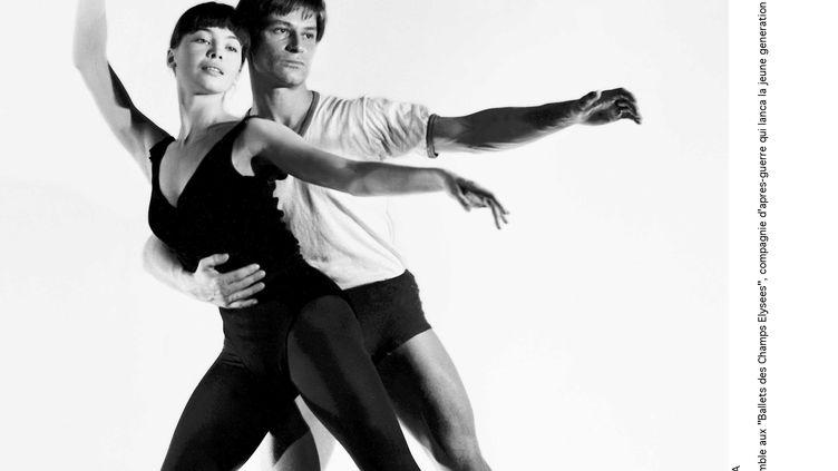 Les danseurs Leslie Caron et Jean Babilée, alors membres des Ballets des Champs-Elysées, en 1946. (LIDO / SIPA)