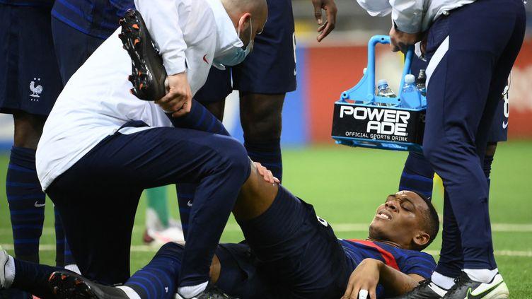 Anthony Martial était sorti sur blessure contre le Kazakhstan le 28 mars dernier. (FRANCK FIFE / AFP)