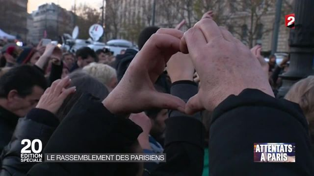 Attentats à Paris : de nombreux rassemblements dans l'émotion