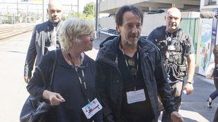 Jean-Hugues Anglade arrive en gare d'Angoulême  (PHOTOPQR/CHARENTE LIBRE)