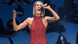 Céline Dion sur scène, le 18 septembre 2019 à Québec, au Canada. (ALICE CHICHE / AFP)