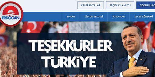 «Merci la Turquie», peut on lire sur le site de campagne d'Erdogan, au lendemain de sa victoire. (DR)