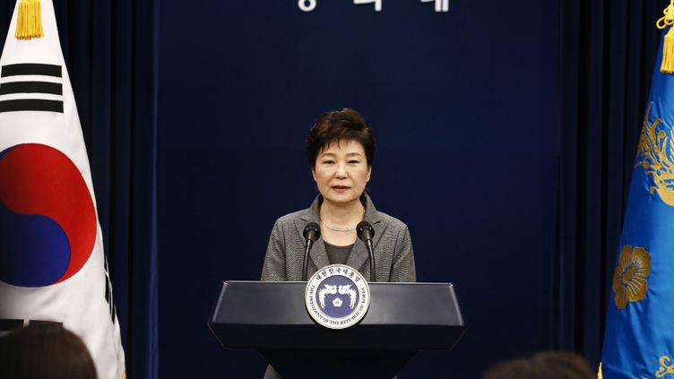 La présidente sud-coréenne Park Geun-hye prononce un discours à Séoul, le 29 novembre 2016. (AFP)