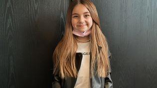 Valentina, chanteuse de 11 ans qui a remporté l'Eurovision Junior 2020. (SEBASTIEN BAER / RADIO FRANCE)