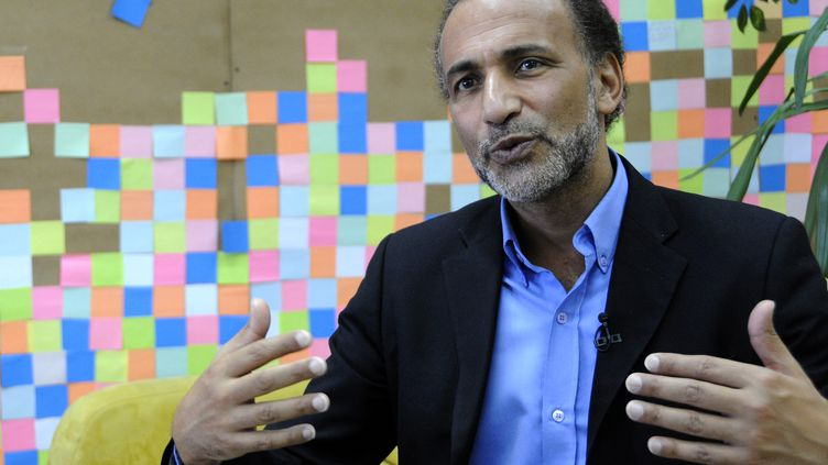 L'islamologue suisse Tariq Ramadan, en septembre 2013 à Sarajevo (Bosnie-Herzégovine). (MIDHAT POTUROVIC / ANADOLU AGENCY / AFP)
