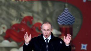 Le président russe Vladimir Poutine, lors d'un discours, à Moscou, le 1er juin 2016. (KIRILL KUDRYAVTSEV / AFP)