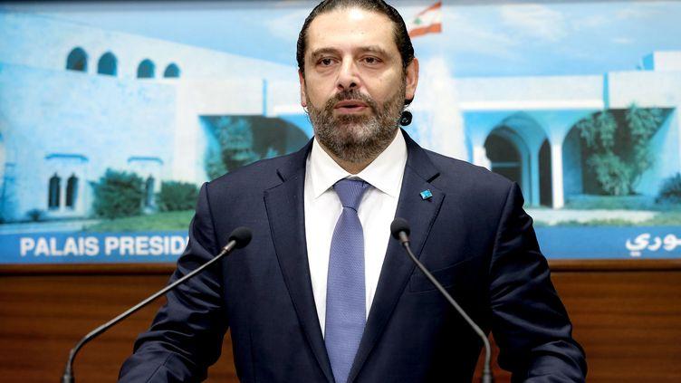 Le Premier ministre libanais Saad Hariri, à Beyrouth (Liban), le 21 octobre 2019. (AFP PHOTO / HO / DALATI AND NOHRA)