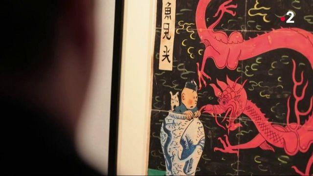 """Bande-dessinée : un dessin du """"Lotus bleu"""" de """"Tintin"""" pourrait être vendu plus de 3 millions"""