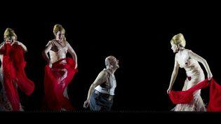 """""""L'Or du Rhin"""" de Wagner à l'Opéra de Paris, sous la direction de Philippe Jordan (Louise Callinan, Wiebke Lehmkuhl, Peter Sidhom et Caroline Stein), 2013  (Opéra national de Paris / Elisa Haberer)"""