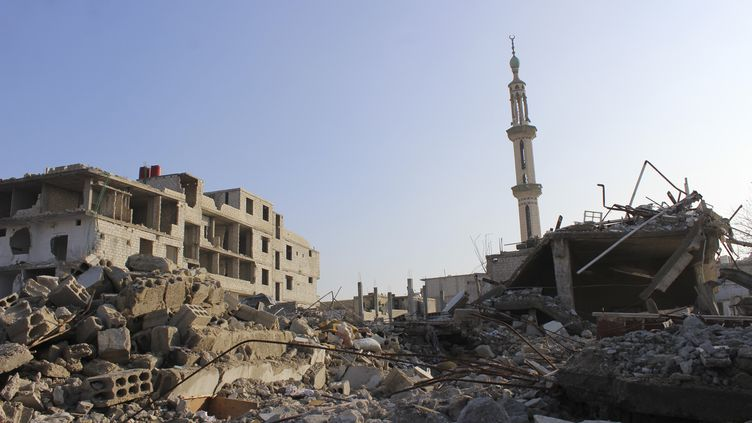Des bâtiments détruits par les bombes à Damas (Syrie), le 26 décembre 2012. (REUTERS)