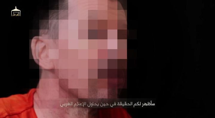 Capture d'écran de la vidéo diffusée le 18 septembre sur YouTube montrant l'otage britannique John Cantlie. (  FRANCETV INFO )