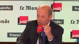 Jean-Yves Le Drian, ministre des Affaires étrangères, invité deFrance Inter-franceinfo-Le Monde le dimanche 2 septembre. (RADIO FRANCE)