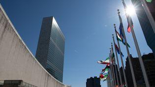 Le siège de l'ONU à New York(Etats-Unis), le 1er avril 2019. (RALF HIRSCHBERGER / DPA / AFP)