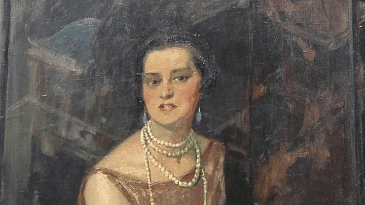 Portrait de Jenny Sacerdote réalisé parJean-Gabriel Domergue et exposé au musée du Périgord  (France 3 / Culturebox / capture d'écran)