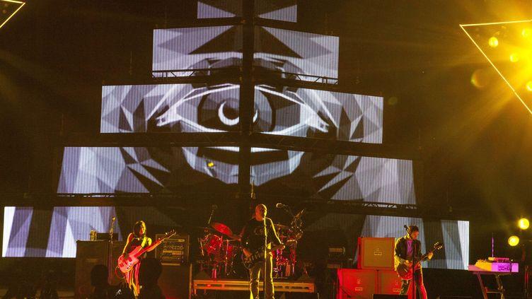 The Smashing Pumpkins en concert en mai 2013 à Columbus (Ohio, USA)  (Barry Brecheisen/AP/SIPA )