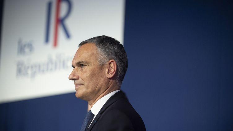 Arnaud Danjean, député européen LR, le 16 mars 2019. (ROMAIN LAFABREGUE / AFP)