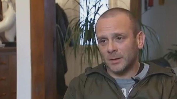 Christophe Kenck, journaliste à France 2, qui était avec Gilles Jacquier le jour de sa mort à Homs (Syrie), le 13 janvier 2012. (FRANCK GENAUZEAU, JEAN-FRANÇOIS MONIER - FRANCE 2)