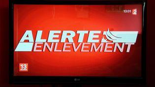 Le logo Alerte enlèvement, diffusé à la télévision le 19 décembre 2012. (MAXPPP)