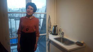 Joséphine, rescapée incendie rue Erlanger à Paris. (SEBASTIEN BAER / FRANCEINFO / RADIO FRANCE)