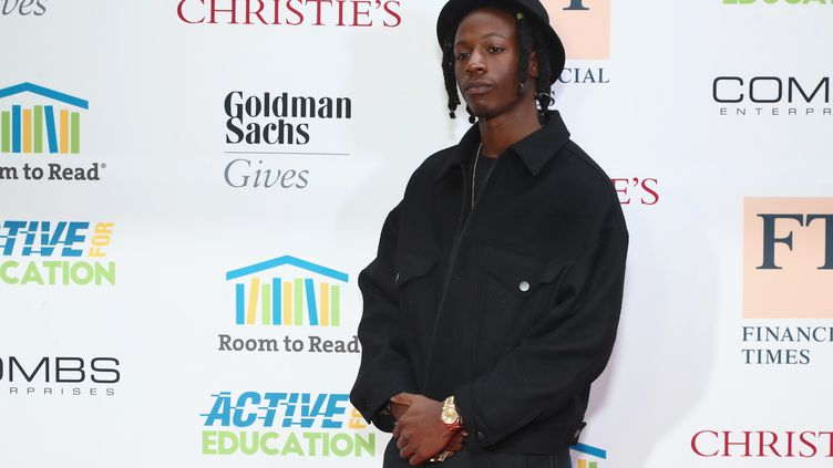 Le rappeur Joey Bada$$, le 11 mai 2017, à New York. (ASTRID STAWIARZ / GETTY IMAGES NORTH AMERICA / AFP)