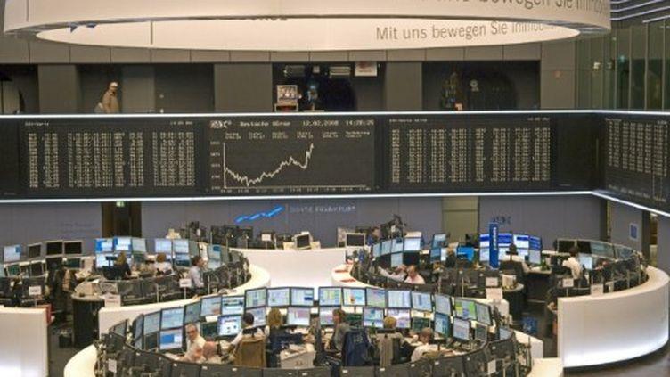 La bourse de francfort (Allemagne). (Bildagentur RM / TIPS / Photononstop)