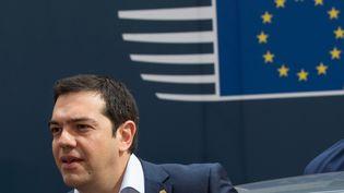 Le Premier ministre grec, Alexis Tsipras,au sommet européen à Bruxelles, le 26 juin 2015. (PHILIPPE WOJAZER / REUTERS)