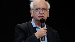 Erik Orsenna, écrivain français. Le 5 octobre 2016b à l'Institu Pasteur à Paris (THOMAS SAMSON / AFP)