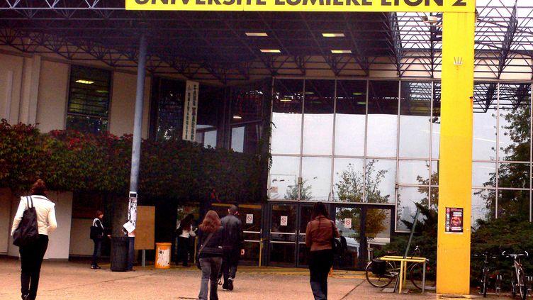 Une des entrées de l'université de Lyon 2. (JUSTE PHILIPPE / MAXPPP)