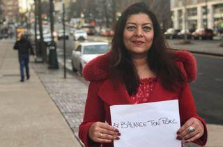 Sandra Muller, à l'origine du hashtag #BalanceTonPorc, photographiée à New York (Etats-Unis). (DR)