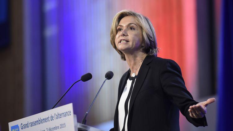 La candidate Les Républicains, Valérie Pécresse, le 3 décembre 2015 à Rueil-Malmaison (Hauts-de-Seine). (LIONEL BONAVENTURE / AFP)