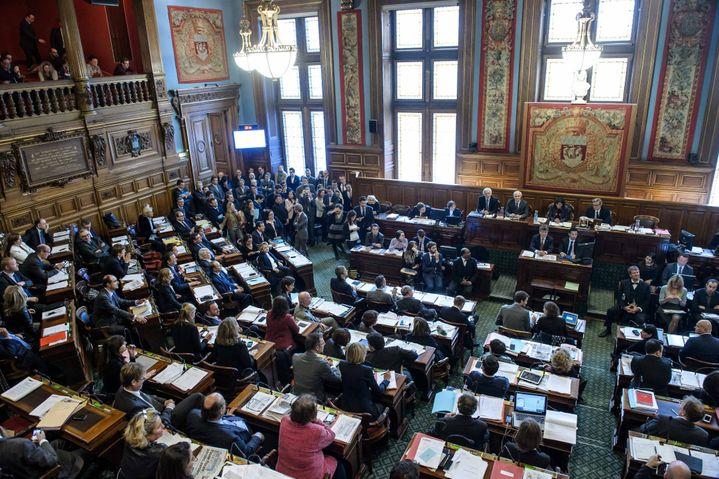 Le conseil municipal de Paris, le 17 novembre 2014. (MAXPPP)