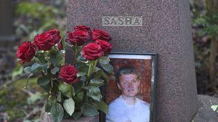 La tombe d'Alexandre Litvinenko, dans le cimetière de Highgate à Londres, le 21 janvier 2016. (TOBY MELVILLE / REUTERS)